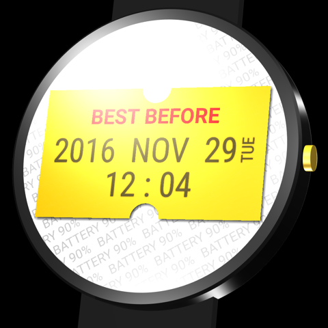 BestBefore watch face
