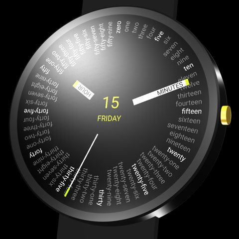 Fifty-nine watch face