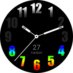 Spectral watch face
